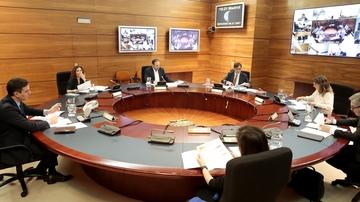 Imagen de un Consejo de Ministros Extraordinario celebrado durante la pandemia de COVID-19