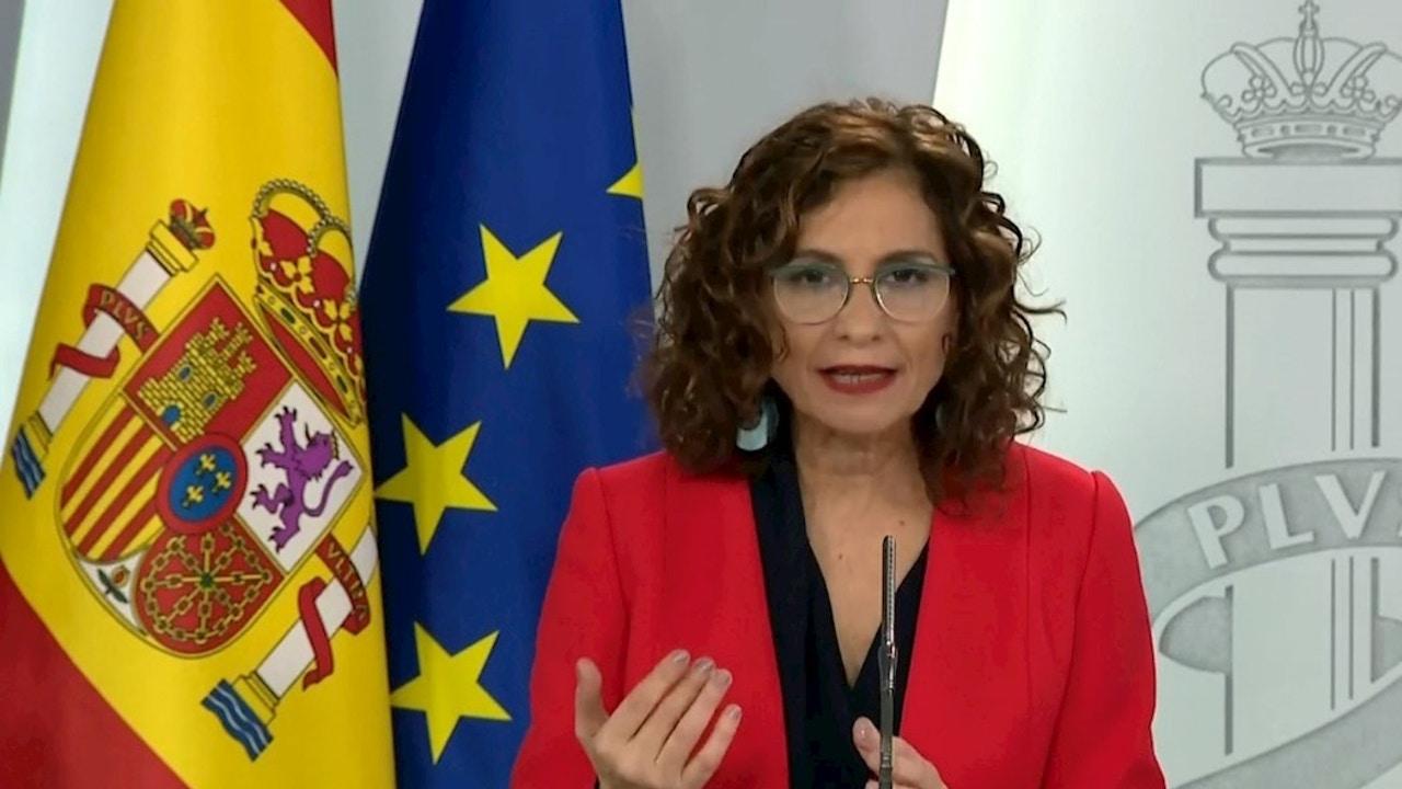 María Jesús Montero tras un Consejo de Ministros extraordinario