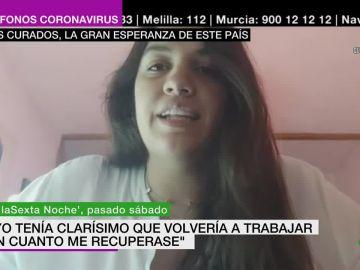 María del Mar, una enfermera recuperada tras sufrir coronavirus.