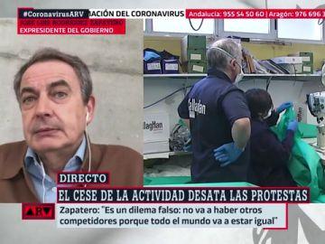 """Zapatero, sobre el cese de la actividad no esencial: """"Para que la economía se recupere, tenemos que controlar la pandemia"""""""