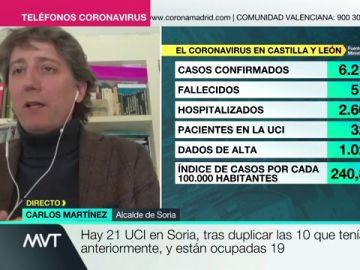 """El alcalde de Soria pide ayuda ante la situación de """"alarma"""" de la ciudad: """"Necesitamos material de forman inmediata, no podemos esperar ni 24 horas"""""""
