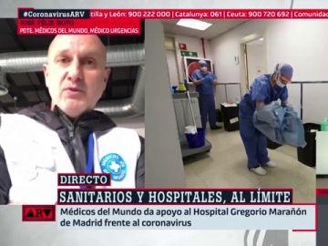 """José Félix Hoyo, presidente de Médicos del Mundo: """"Los sanitarios están trabajando por encima de sus capacidades"""""""