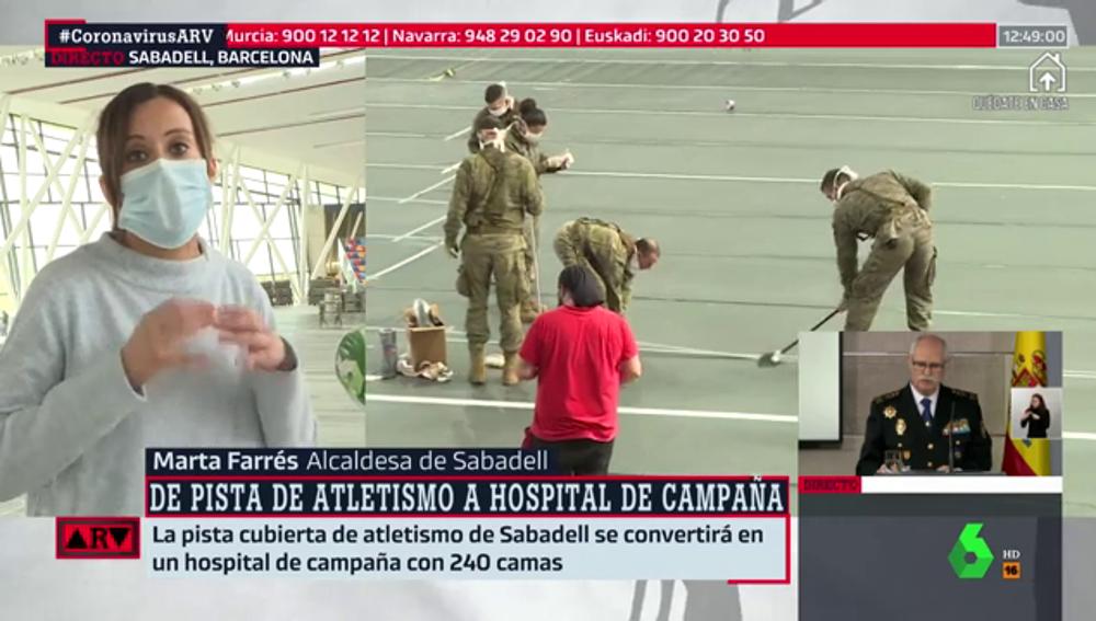 """Marta Farrés, alcaldesa de Sabadell: """"Pedimos a la Generalitat que no deje a los ayuntamientos solos ante esta pandemia"""""""