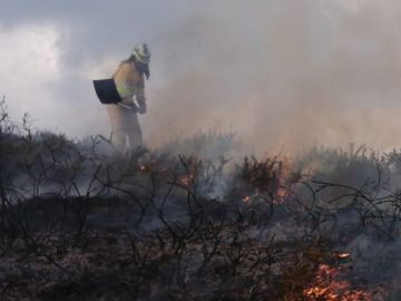 Imagen de un incendio forestal en Cantabria