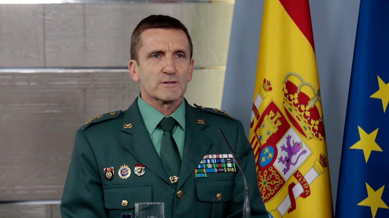 El jefe del Estado Mayor de la Guardia Civil, el general José Manuel Santiago