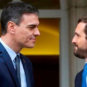 Imagen de archivo de Pedro Sánchez y Pablo Casado