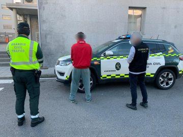 Detenido por escupir a un guardia civil en Pontevedra