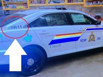 Imagen de una réplica del vehículo de la Policía de Canadá que supuestamente fue utilizado por el atacante en el tiroteo