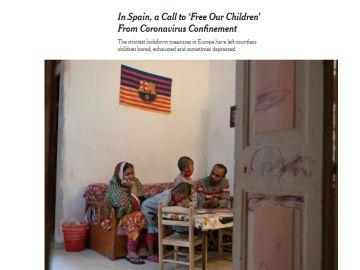 Imagen del New York Times del confinamiento en España