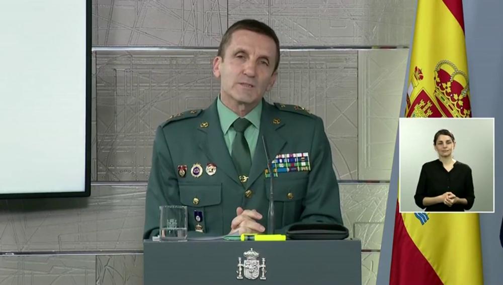 """El jefe de la Guardia Civil, tras sus declaraciones sobre las críticas al Gobierno: """"Lo primero son las personas, no hay ideologías"""""""