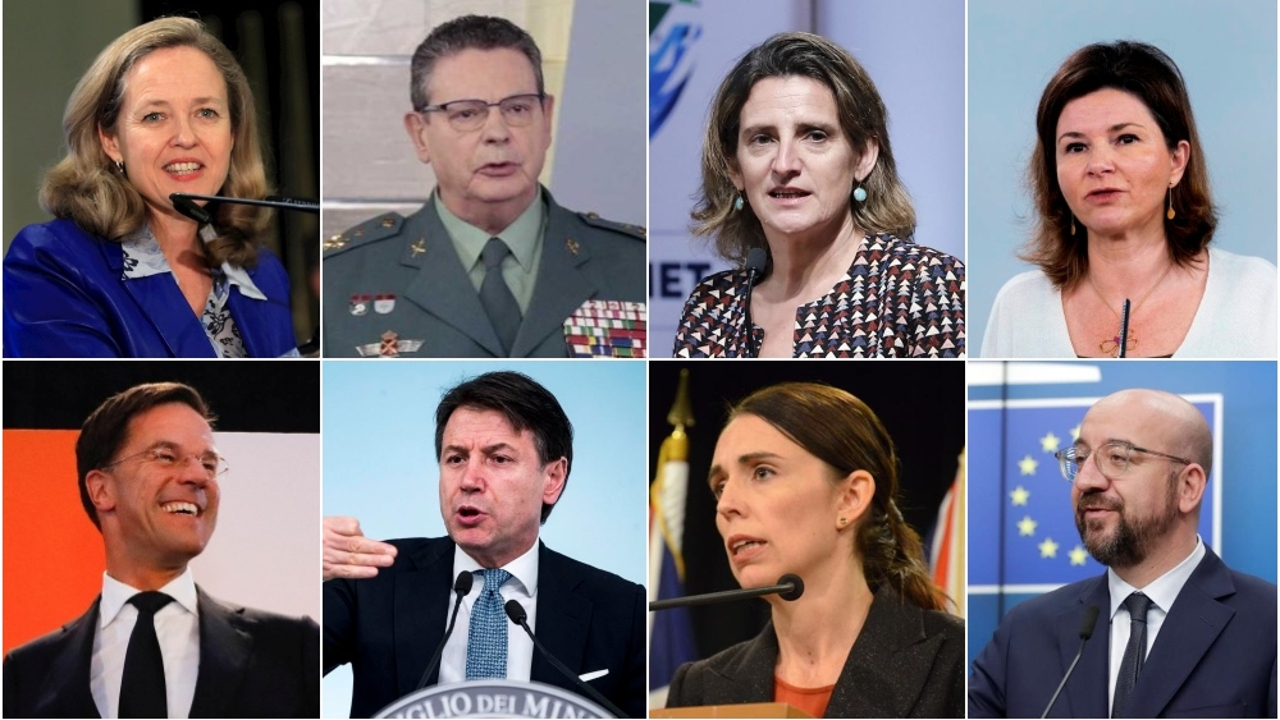 Las caras de la gestión del coronavirus en España y en el mundo