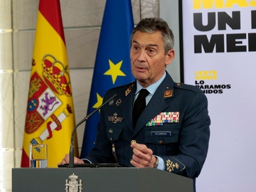 El Jefe de Estado Mayor de la Defensa, Miguel Ángel Villarroya