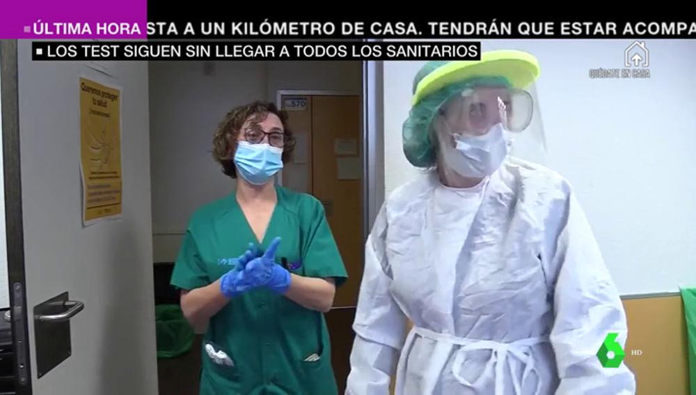 Los sanitarios de la Comunidad de Madrid denuncian la falta de test al personal