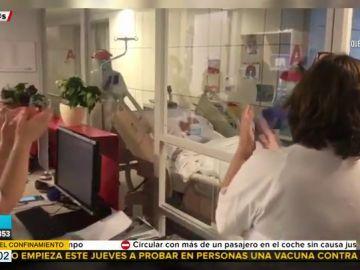 Una monja de 101 años vence al coronavirus y recibe el alta entre aplausos de todo el hospital y 'Resistiré' de fondo