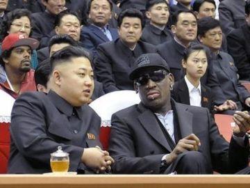 Dennis Rodman y Kim Jong Un.