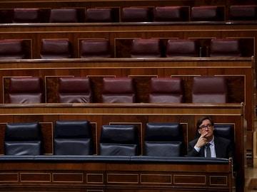 El ministro de Sanidad, Salvador Illa, en el Congreso
