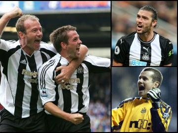 Varios jugadores históricos del Newcastle