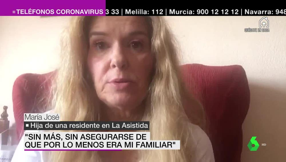María José, hija de una residente de La Asistida
