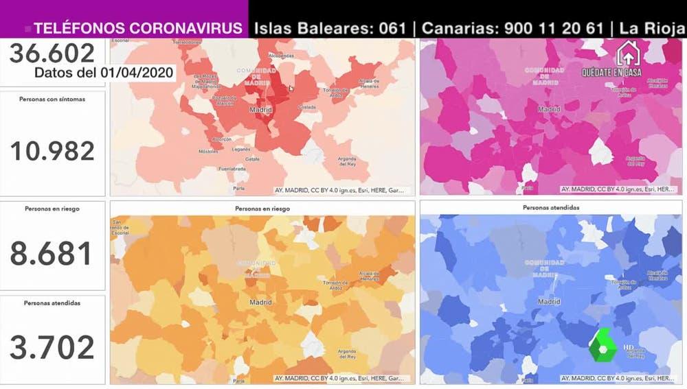 La geolocalización permite conocer el estado del coronavirus en tiempo real