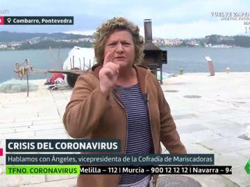 Ángeles, mariscadora gallega