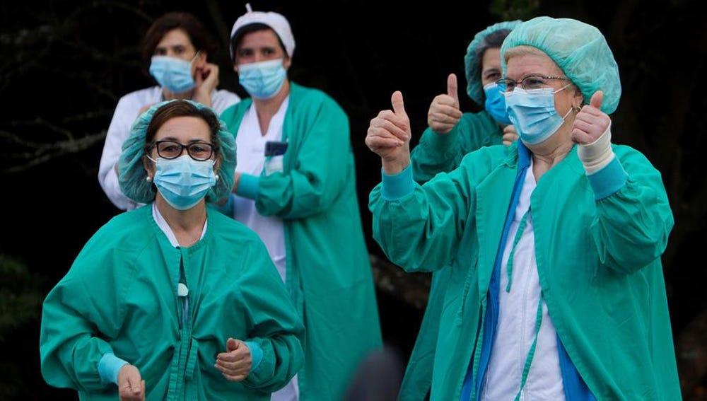 Personal sanitario del Hospital del Meixueiro en Vigo