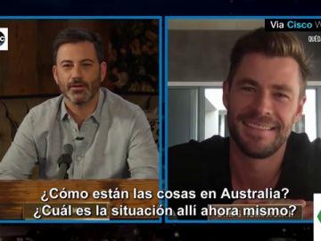 Chris Hemsworth desvela a Jimmy Kimmel el divertido error de Elsa Pataky