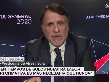 El presidente de Atresmedia José Creuheras