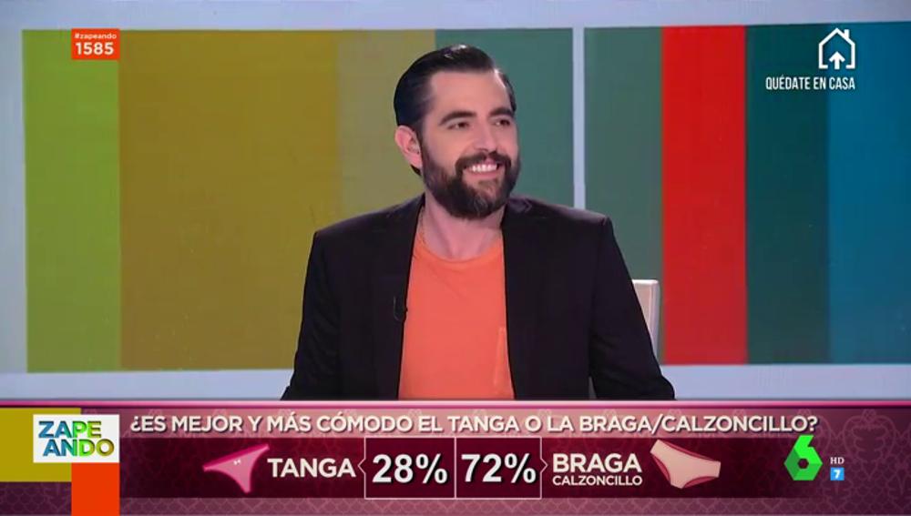 ¿Tanga o braga?: el debate de los zapeadores que provoca una de las confesiones más íntimas de Dani Mateo