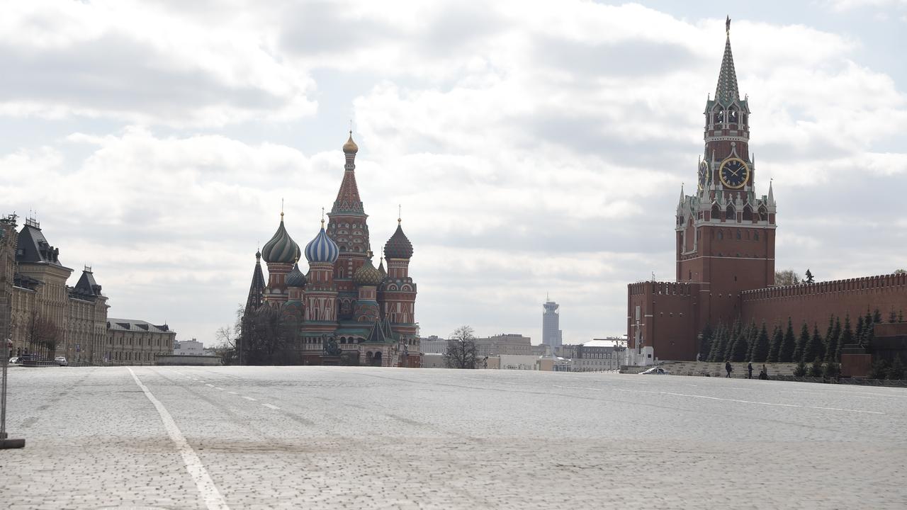 La Plaza Roja de Moscú, vacía por el coronavirus
