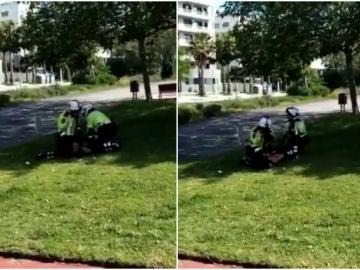 La Policía detiene una 'runner'