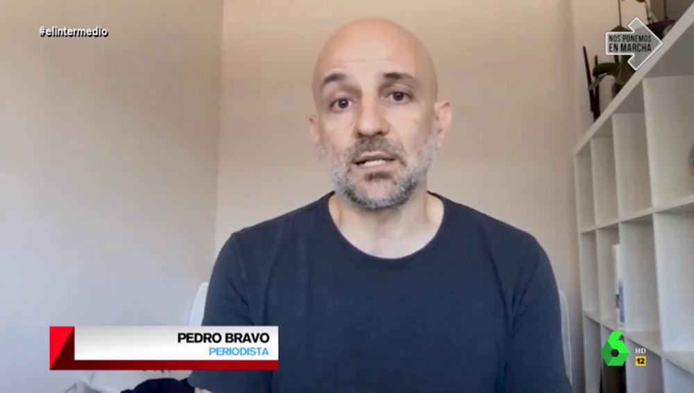 El periodista Pedro Bravo en El Intermedio