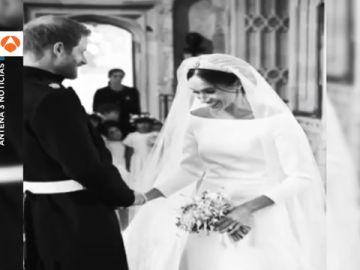 Las informales imágenes de Meghan Markle y el príncipe Harry el día de su boda