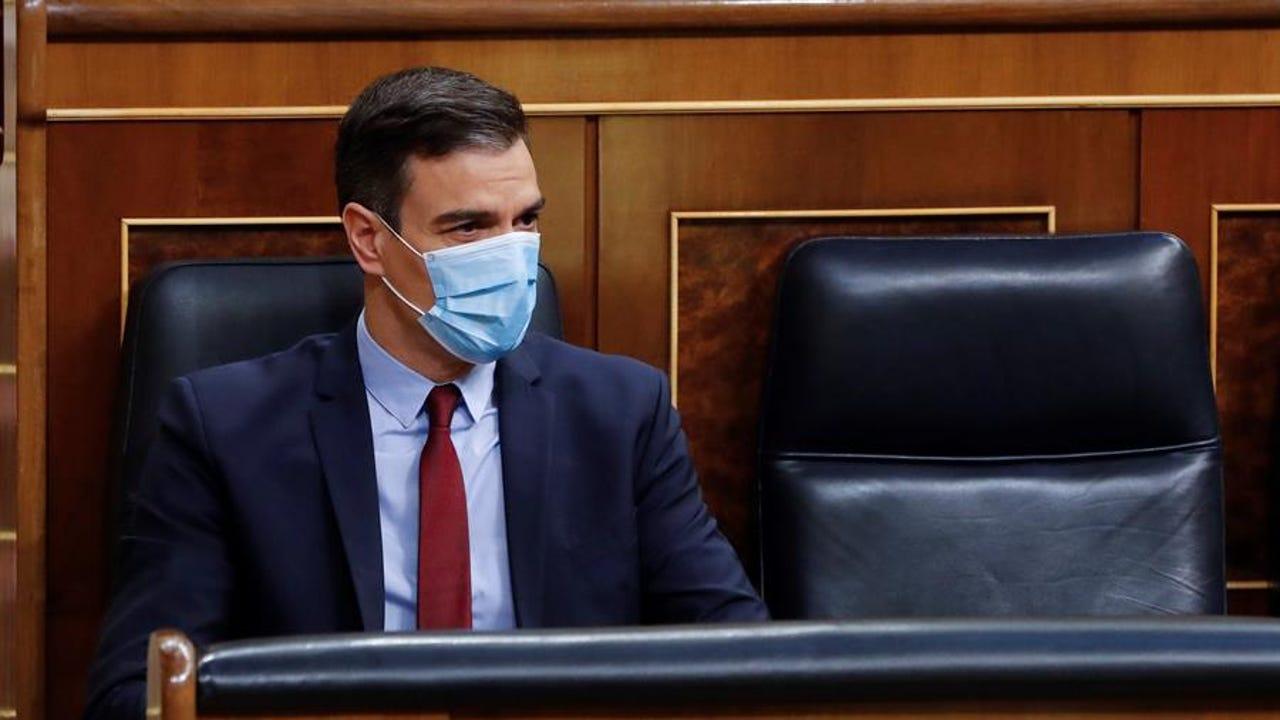 Pedro Sánchez en el Congreso durante el debate de la quinta prórroga del estado de alarma