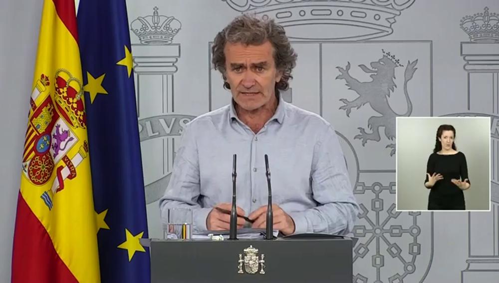 Fernando Simón en su comparecencia diaria