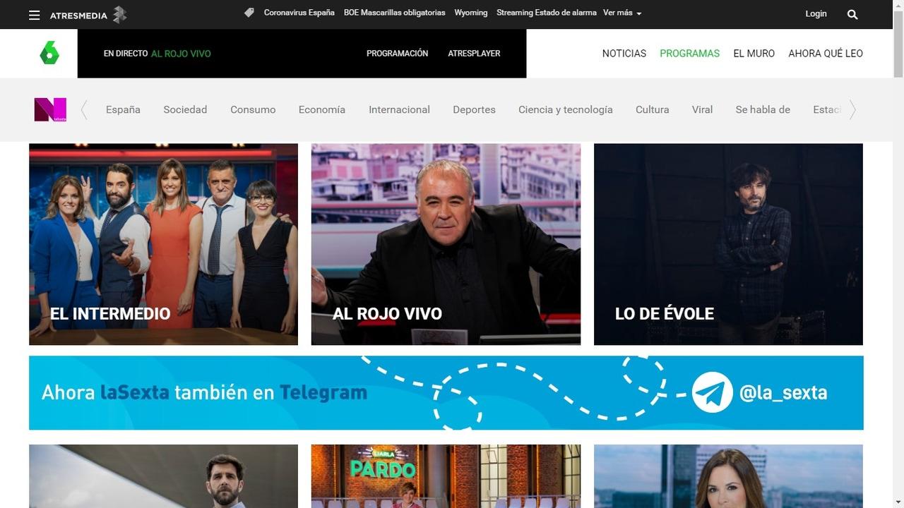 Imagen de varios de los programas de laSexta