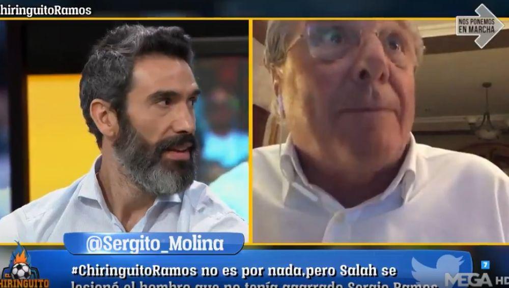 Fernando Sanz y Jorge D'Alessandro.