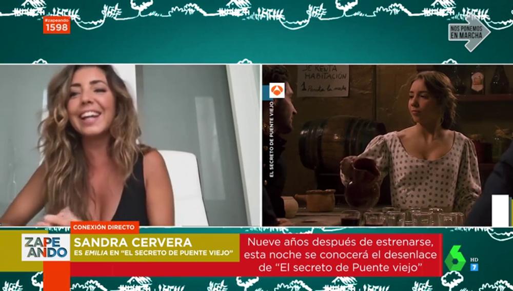 La actriz Sandra Cervera
