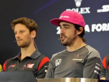 Romain Grosjean y Fernando Alonso