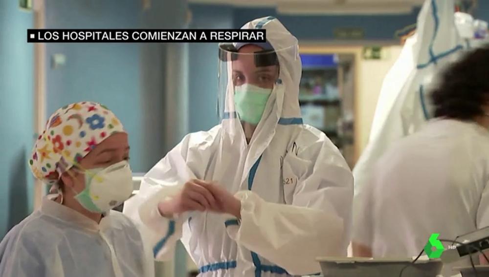 La presión asistencial está bajando en los hospitales