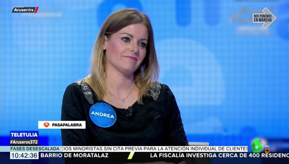 """La divertida advertencia de Andrea Ropero sobre Iñaki López en Pasapalabra: """"Vigila al vasco que es un tramposo"""""""