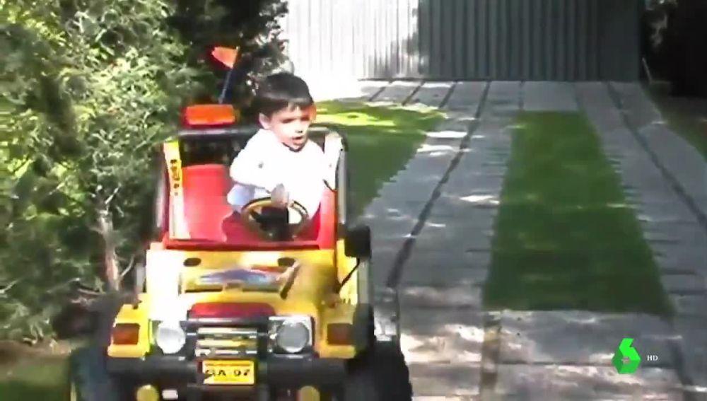 Carlos Sainz de niño