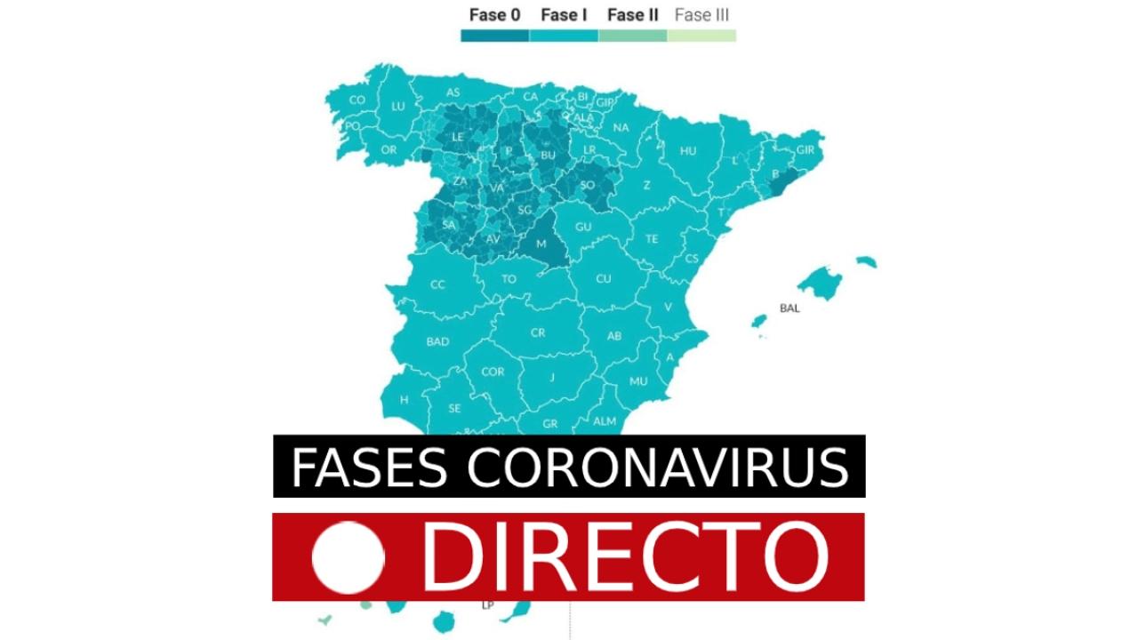 Coronavirus España: Cambio de fase de Madrid, Barcelona y otras provincias, en directo