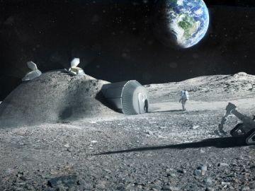 Imagen de una base lunar realizada con una impresora 3D