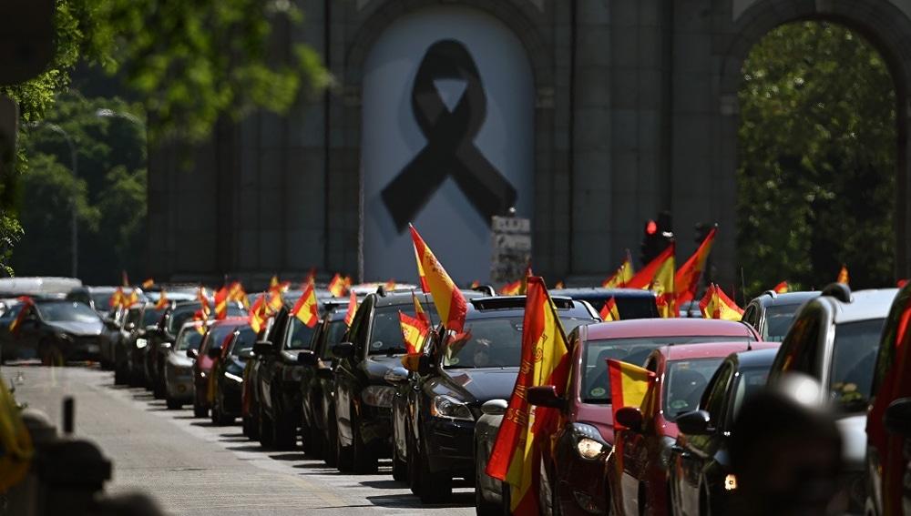Imagen de la manifestación de Vox contra el Gobierno