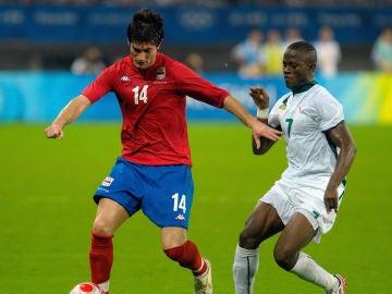 Miljan Mrdakovic disputando los JJOO con Serbia