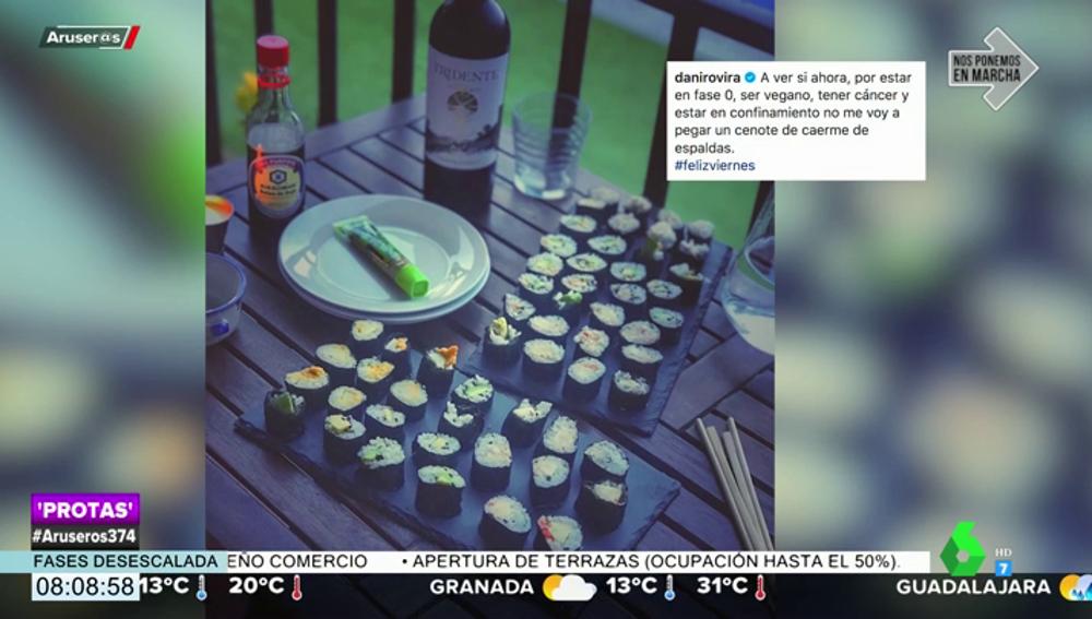 """Dani Rovira celebra la vida con una cena """"de caerse de espaldas"""" junto a Clara Lago"""