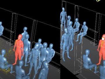 Realidad virtual sobre contagio en el transporte público
