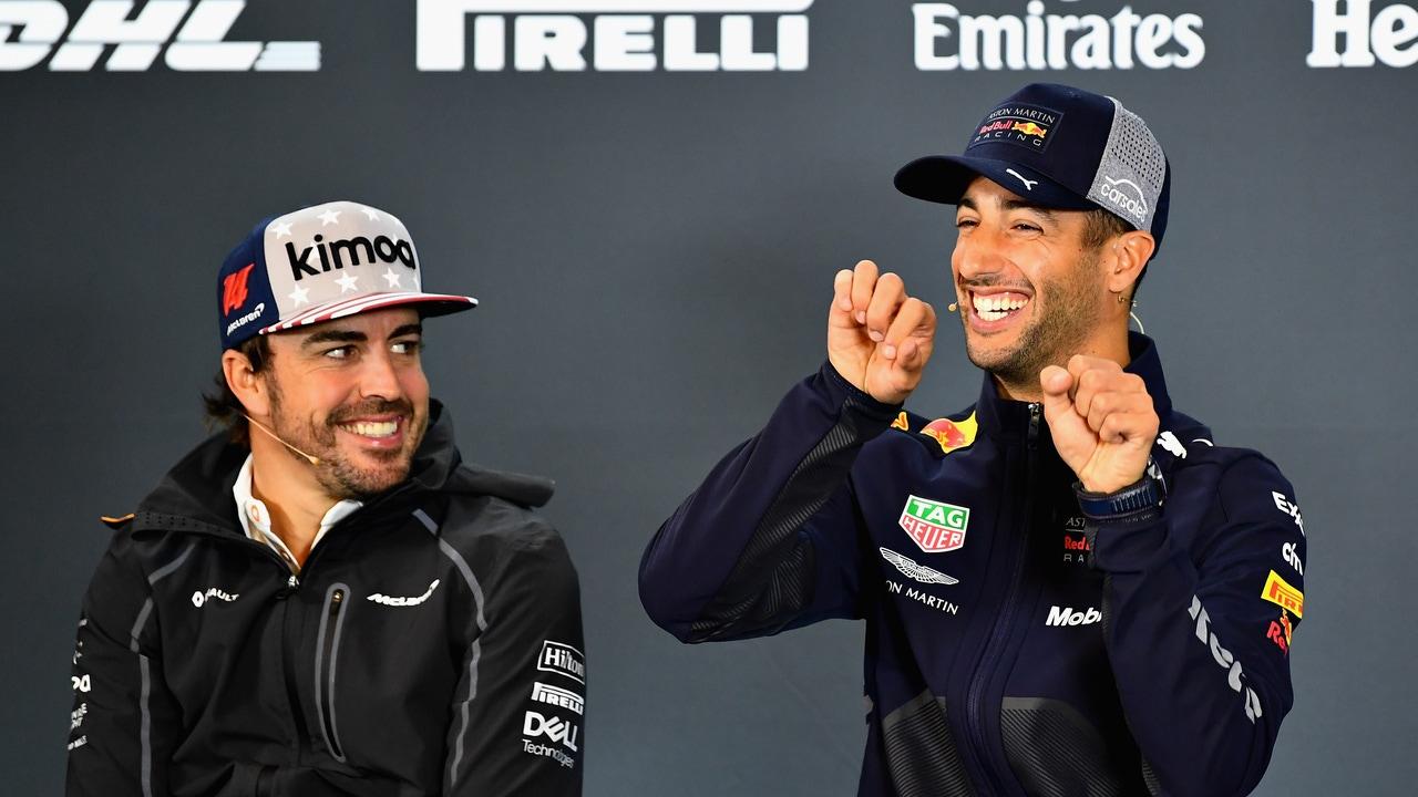Fernando Alonso y Daniel Ricciardo