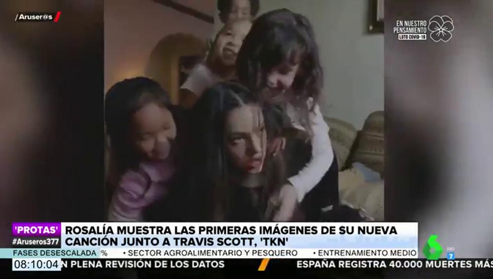 Salen a la luz las primeras imágenes de 'TKN', la esperada canción de Rosalía y Travis Scott