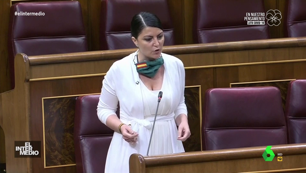 """Vídeo manipulado - Olona sorprende en el Congreso con un discurso feminista: """"La mujer es fuerte y poderosa"""""""